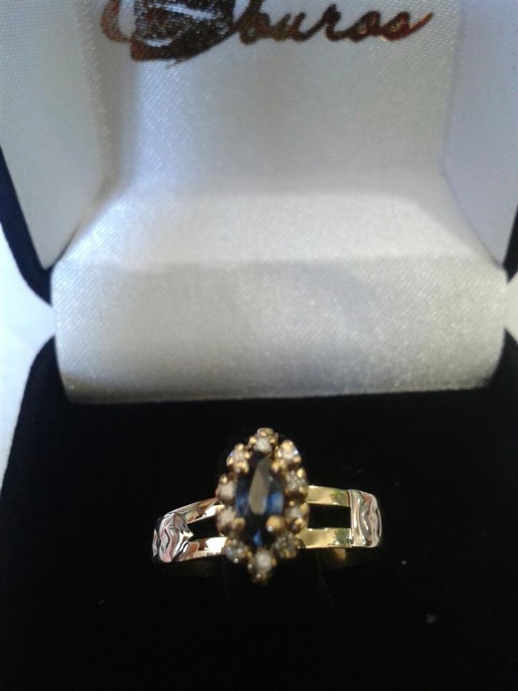 Anel Formatura Ouro 18k Pedra Natural Brilhantes - Houros Joias 5d5d81b923