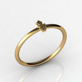 Anel Solitário Ouro 18k com 13 pedras - Houros Joias 69a27b5068