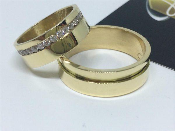 Par de Alianças Ouro 18k Casamento 7