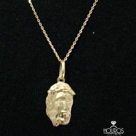 Pingente de Ouro Face de Cristo
